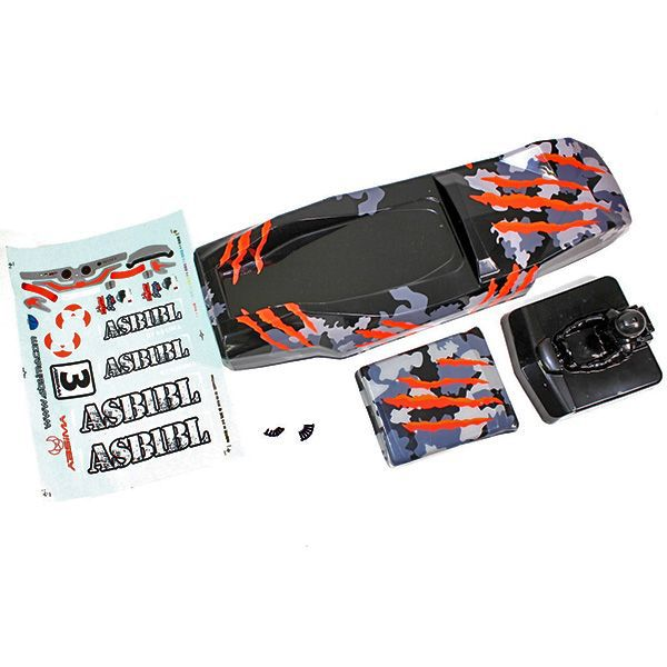 CARROSSERIE SAND BUGGY 1/10ème CAMOUFLAGE ORANGE