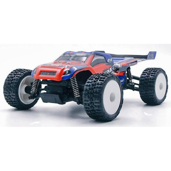 MICRO TRUGGY GT24TR CARISMA 1/24 4WD BRUSHLESS ROUGE ET BLEU