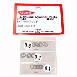 RONDELLES DE CALAGE POUR EMBRAYAGE 5X7MM KYOSHO