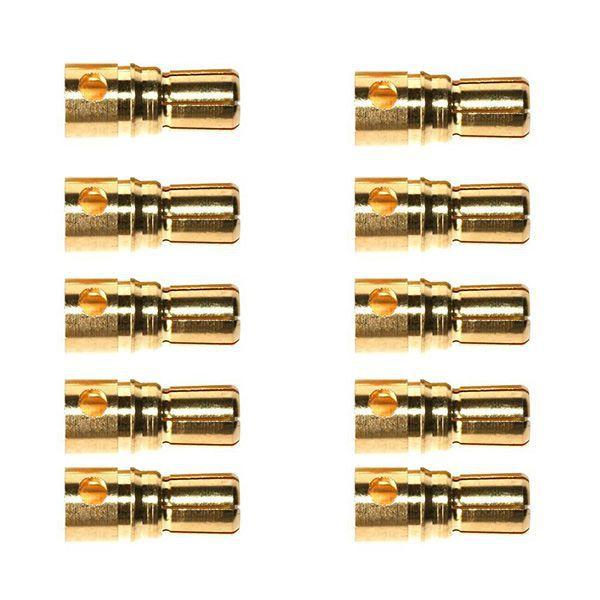 10 CONNECTEURS MALE GOLD 6.0MM