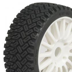 4 roues rallycross hobbytech jantes blanches 1/8 HT-454_X4