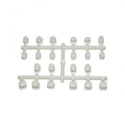 Bagues blanches pour axe de triangle inferno mp9 kyosho