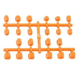Bagues oranges pour axe de triangle inferno mp9 kyosho
