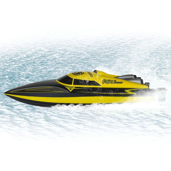 bateau radiocommande electrique fury boat funtek rtr insubmersible. Black Bedroom Furniture Sets. Home Design Ideas