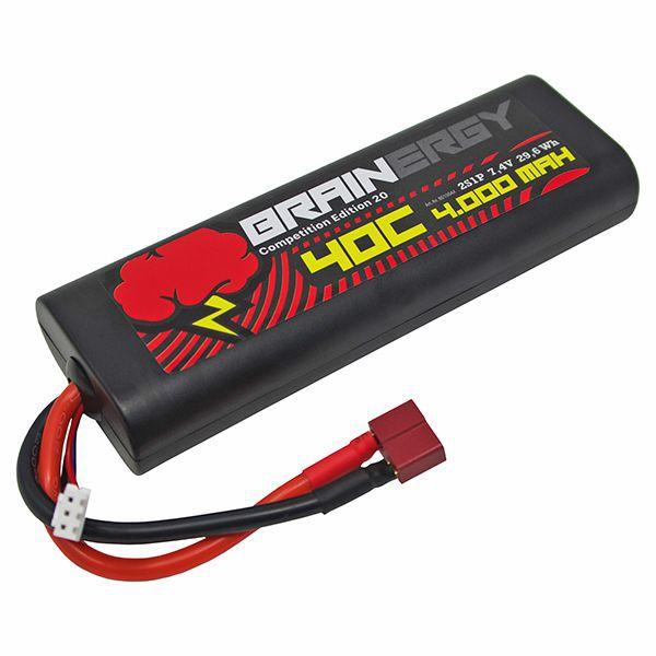 Batterie li-po 4000mah 2s 7.4v 45c dean brainergy 801004-20