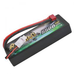 Batterie li-po gens ace 5500mah 2s 7.4v 50c dean