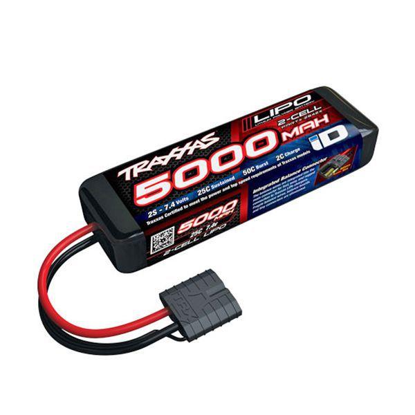 Batterie traxxas li-po 5000mah 7,4v 2s courte 2842x