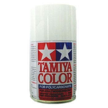 Blanc ps1 tamiya peinture en bombe pour carrosseries des voitures rc modelisme - Bombe de peinture blanche ...