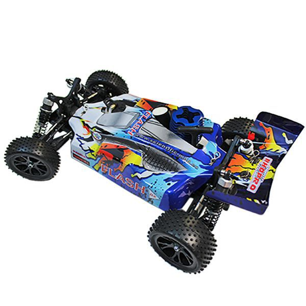 Buggy 1/10 thermique 4wd flash mhd bleu