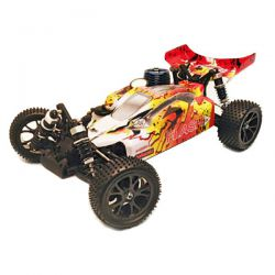 Buggy 1/10 thermique 4wd flash mhd jaune