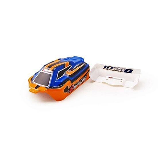 CARROSSERIE ET AILERON GT24B BLEU/ORANGE