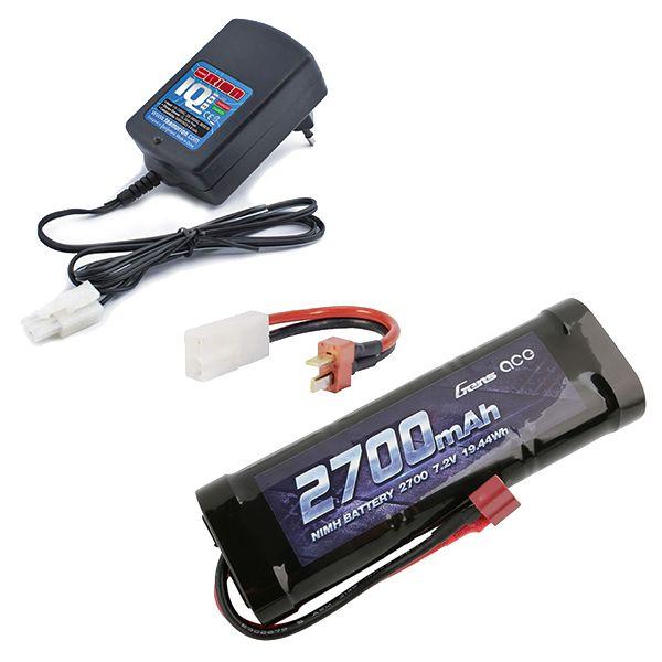 Chargeur automatique 1Ah + batterie 2700mAh prise Dean