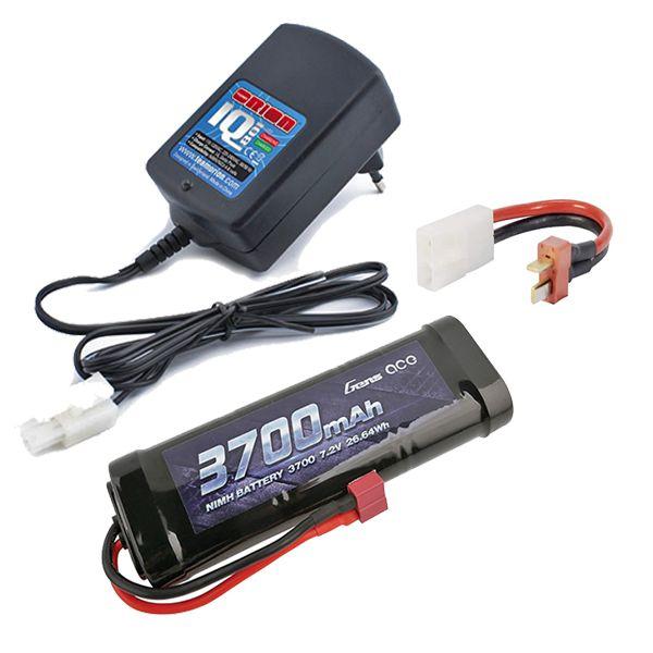 Chargeur automatique 1Ah + batterie 3700mAh prise Dean