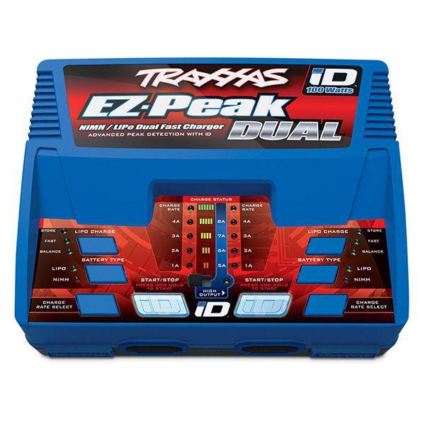CHARGEUR DOUBLE EZ-PEAK + 2X LI-PO 11.1V 5000MAH TRAXXAS