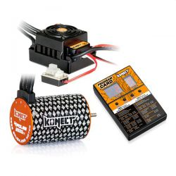 Combo brushless 1/10 moteur 4p 3500kv + esc 50a + carte