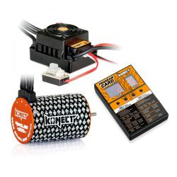 Combo brushless 1/10 moteur 4p 4000kv + esc 50a + carte
