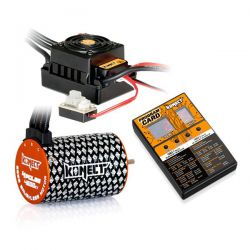 Combo brushless 1/10 moteur 4p 4600kv + esc 50a + carte
