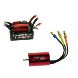 COMBO BRUSHLESS 1/10EME QUICRUN MOTEUR 4500KV ESC 30A