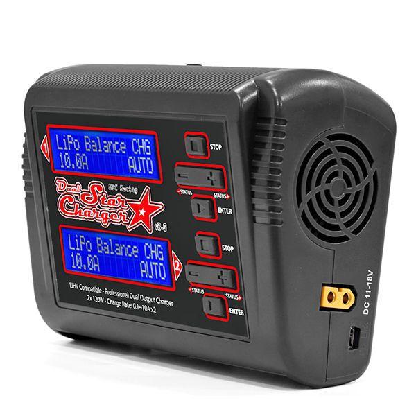 Dual charger hrc 2x120w + 2 batteries li-po 3s 5000mah