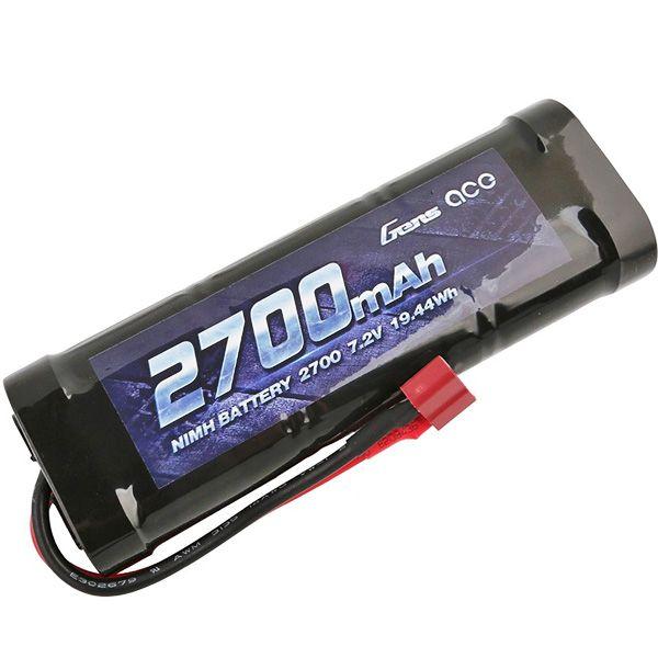 Gens Ace batterie Ni-Mh de 2700 mAh 7.2v prise Dean GE2-2700-1D
