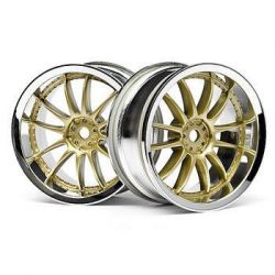 Jantes 26mm chrome et or deport 3mm