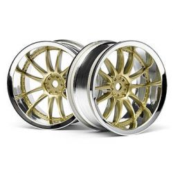 Jantes 26mm chrome et or deport 6mm