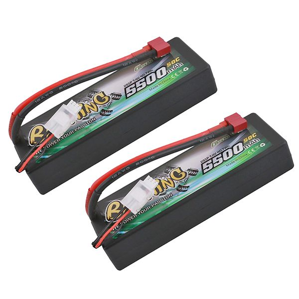 Lot de deux batteries li-po 2s 7.4v 5500mah 50c dean Gens Ace