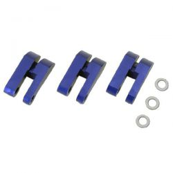 Masselottes alu 3 points bleues pour kyosho inferno mp9