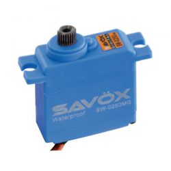Mini servo savox sw-0250mg waterproof métal 5kg 0.11sec