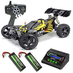 Pack eco buggy 1/8ème b8er  jaune et noir team magic