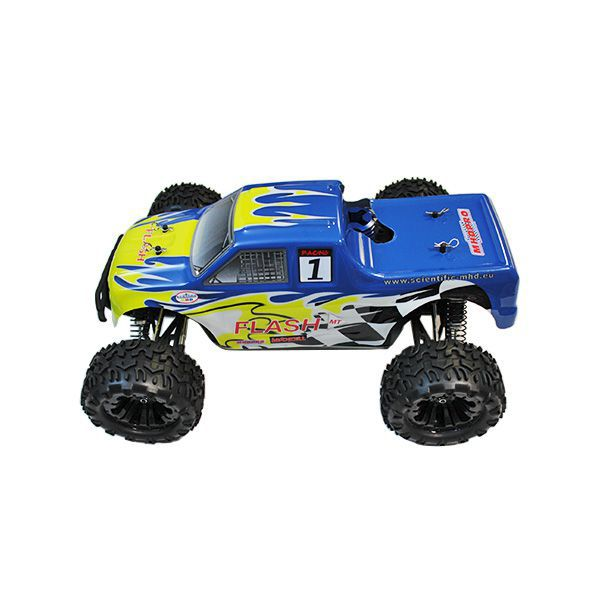 Pack eco monster truck flash 4wd mhd bleu