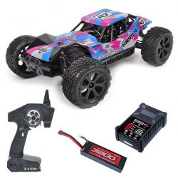 Pack eco t2m pirate sniper brushless bleu/rose