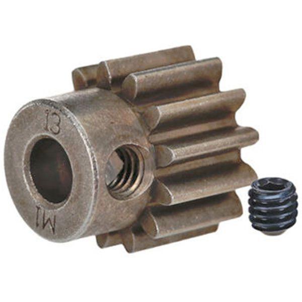 Pignon moteur métal 13 dents module 1 traxxas