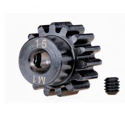 Pignon moteur métal 15 dents traxxas 6487r