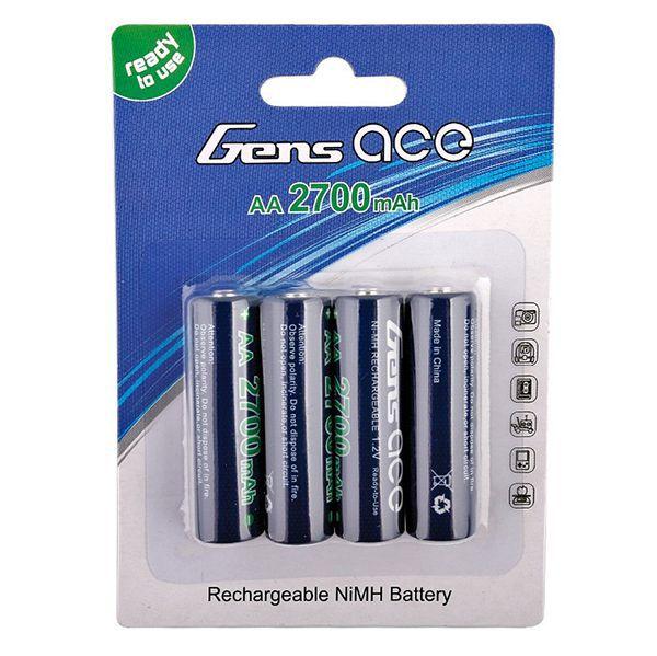 Piles rechargeables r6 aa ni-mh haute capacite 2700mah