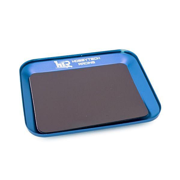 Plateau magnetique en alu bleu pour visserie