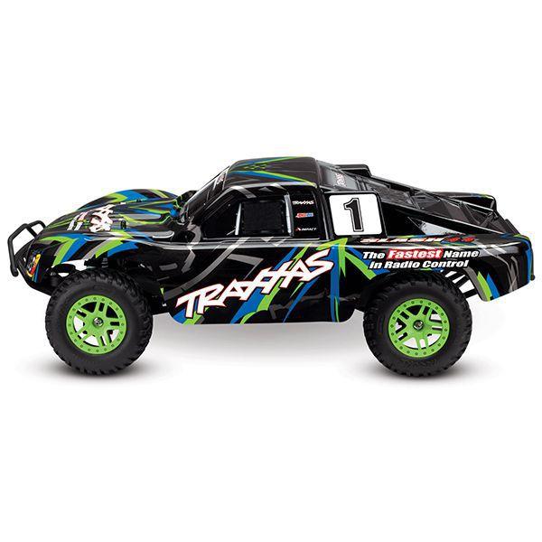 Slash traxxas 4x4 brushed vert 68054-1