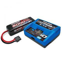 Traxxas chargeur ez-peak live + batterie li-po 4s 14,8v 5000mAh 2996g