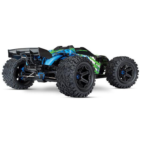 Traxxas e-revo vxl 6s vert et bleu new 2018 86086-4