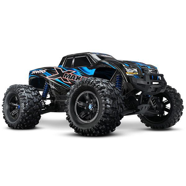 x maxx traxxas 4wd brushless bleu 4wd rtr tsm tqi 77076 04 monster truck. Black Bedroom Furniture Sets. Home Design Ideas